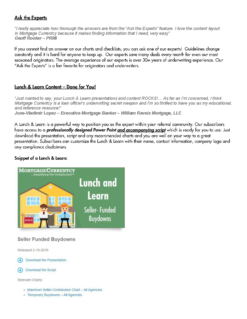 Mortgage Currentcy Overview Page 2