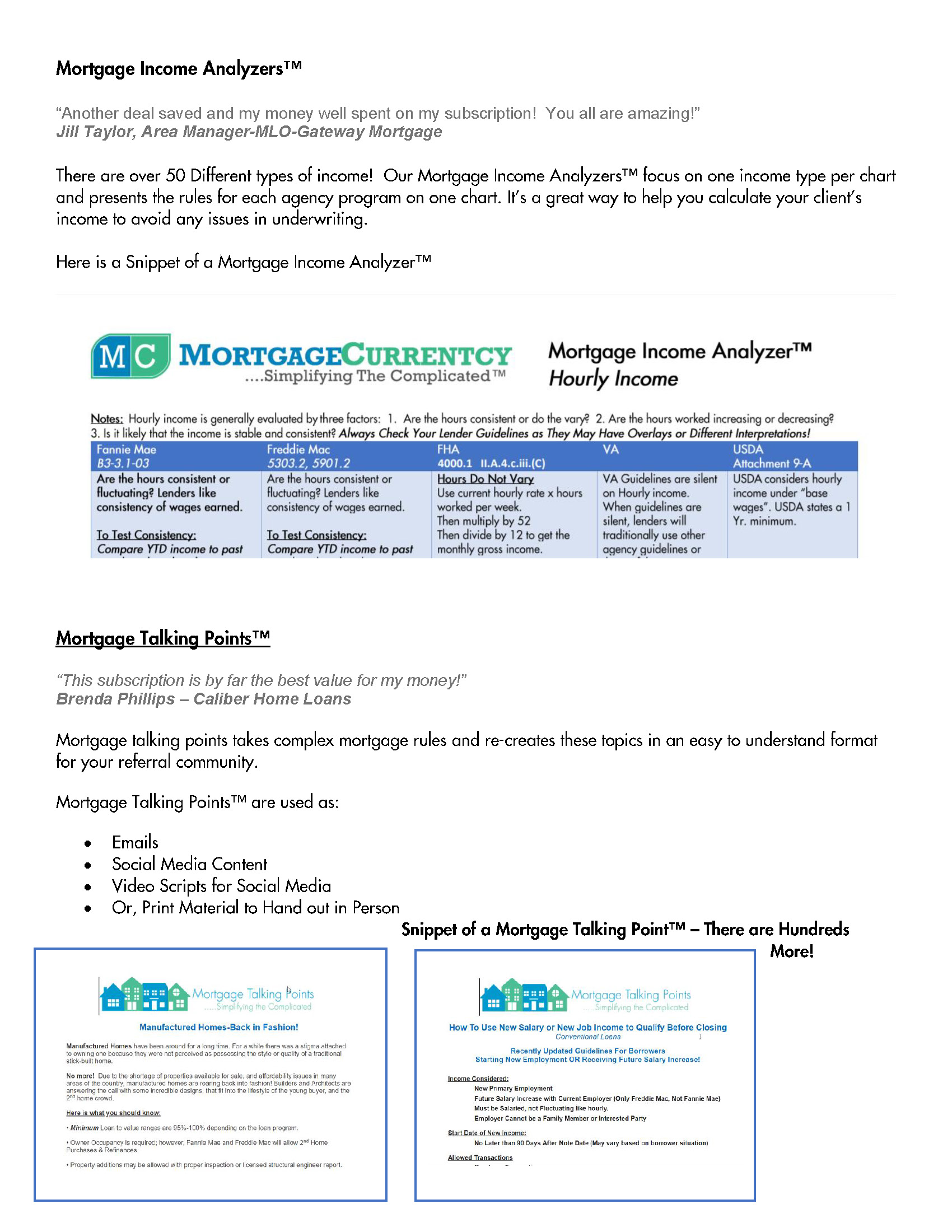 Mortgage Currentcy Overview Page 3