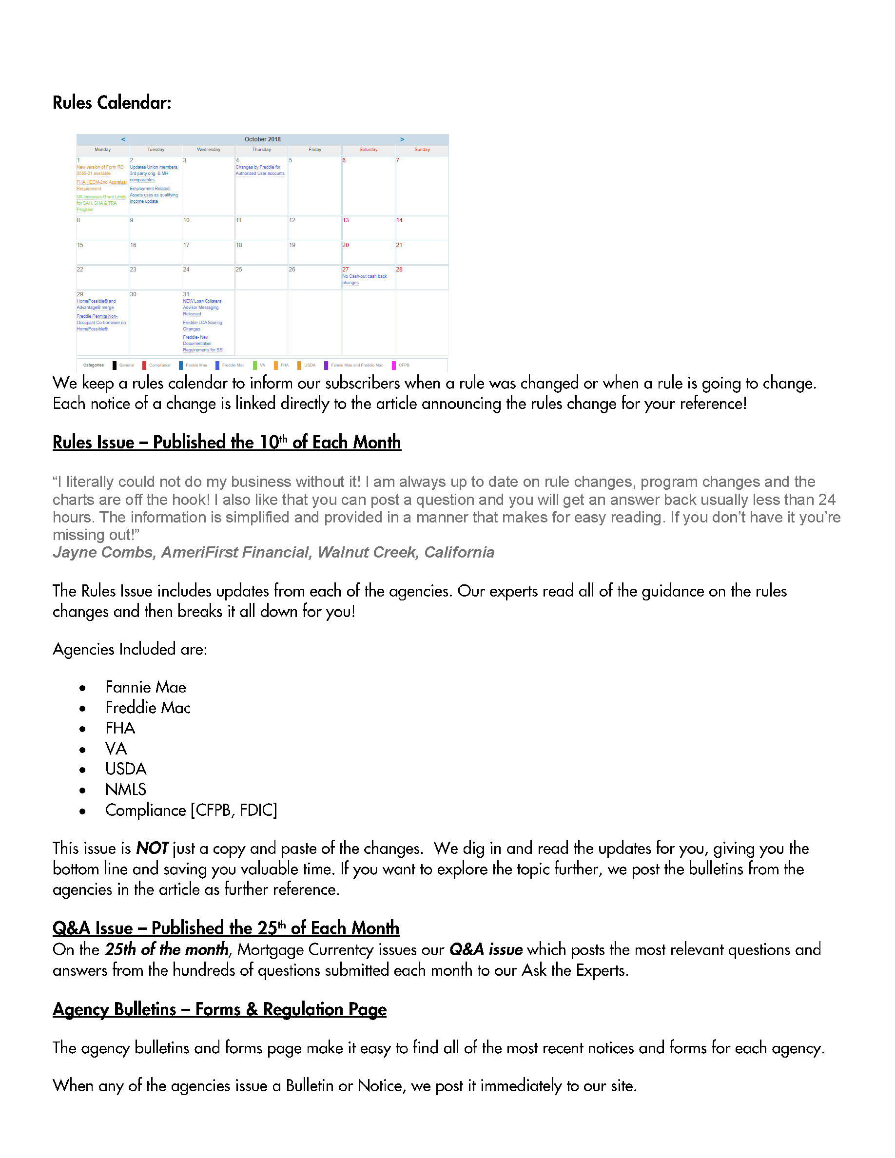 Mortgage Currentcy Overview Page 5