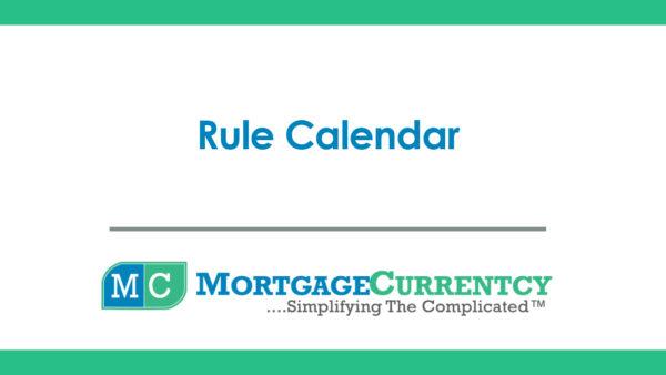 Rule Calendar